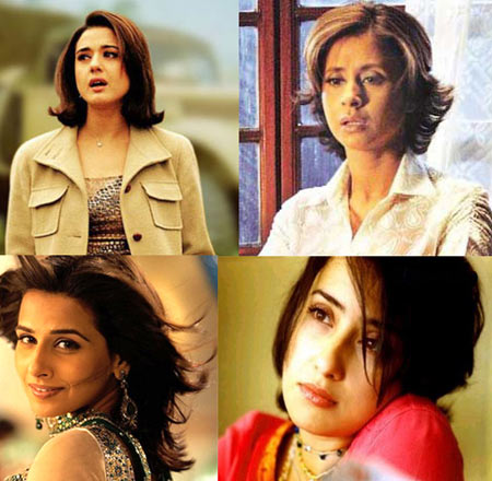 bollywood actresses in short hair style