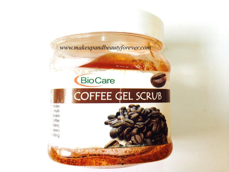 BioCare Coffee Gel Scrub Review label