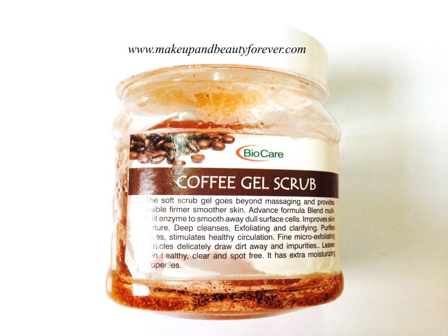 BioCare Coffee Gel Scrub Review
