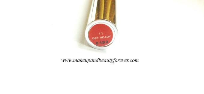 Colorbar Full Finish Long Wear Lipstick Get Ready 11 Review, Swatch, FOTD 3