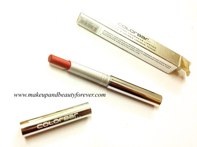 Colorbar Full Finish Long Wear Lipstick Get Ready 11 Review, Swatch, FOTD 5