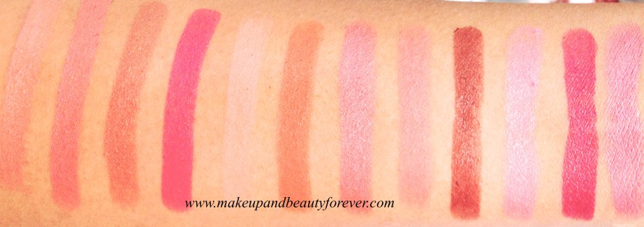 Colorbar Full Finish Long Wear Lipstick  Innocently Brown  Wicked Brown  Rare Truffle  En Vogue  Tempt Me  Plum Show