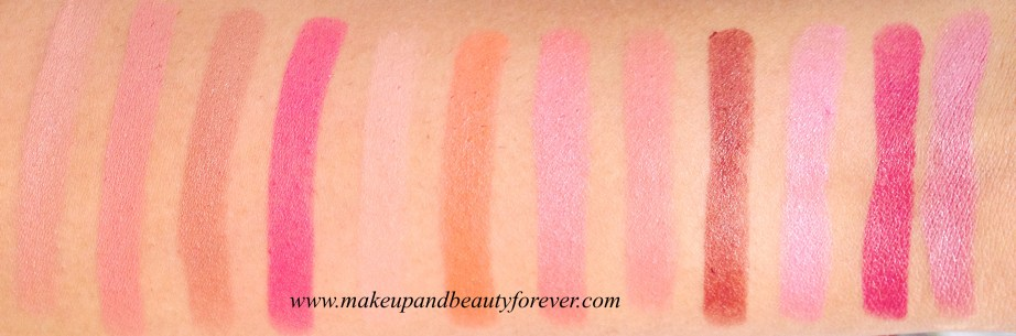 Colorbar Full Finish Long Wear Lipstick Kiss Me  Keep Blushing  Plum Dressing  Coco Liscious  Get Ready  Tangy Pink  Pure Maroon  British Brown