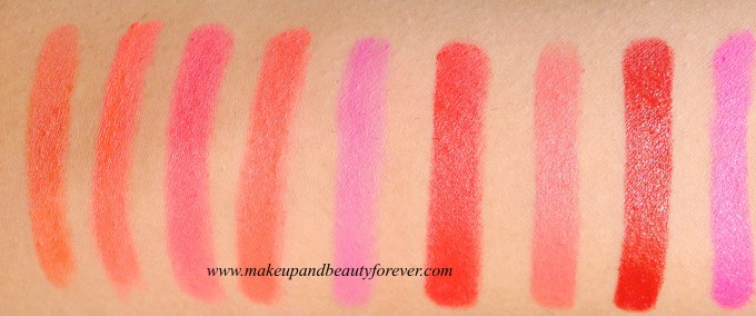 Colorbar Take Me As I Am Lipstick Lip Smacking Cherry 04 Colorbar Take Me As I Am Lipstick Mysterious Nude 06 Colorbar Take Me As I Am Lipstick Seductive Tan 07