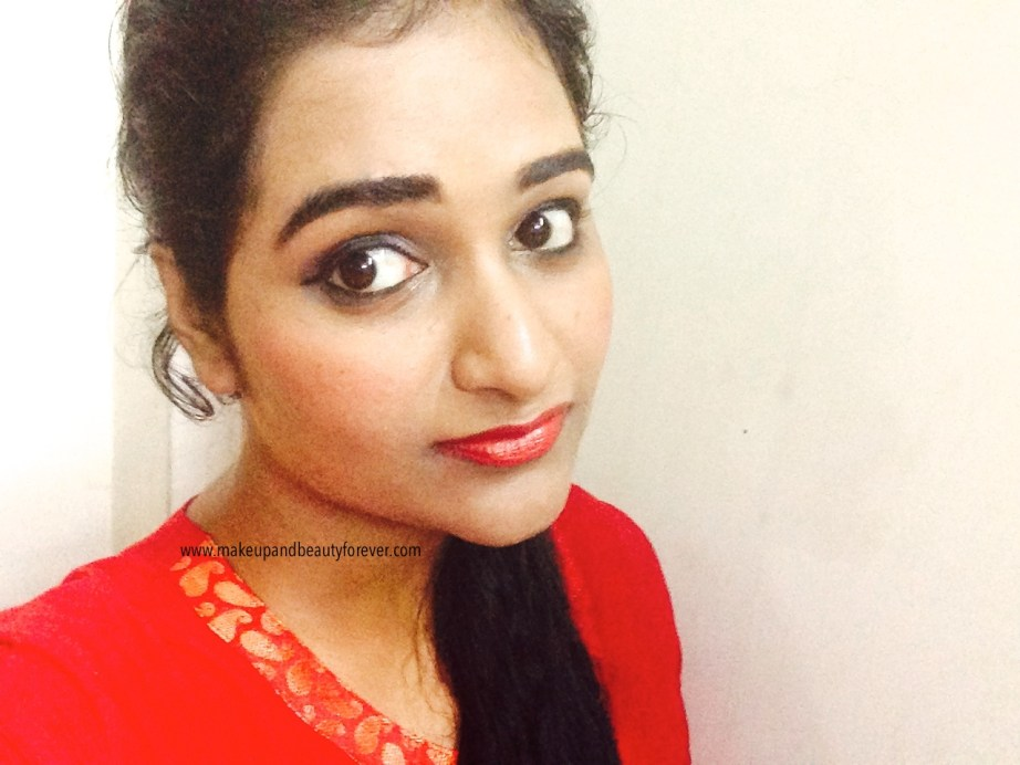 Maybelline ColorShow Lipstick Red My Lips 202 Review, Swatch, Price, FOTD Astha Makeup and beauty forever
