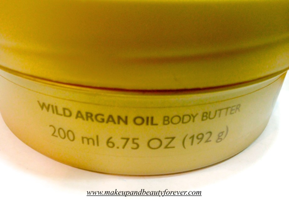 The Body Shop Wild Argan Oil Body Butter Review India