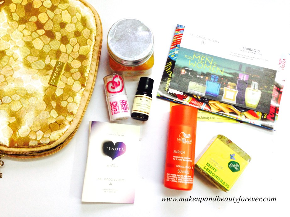 Fab Bag November 2014 review and products