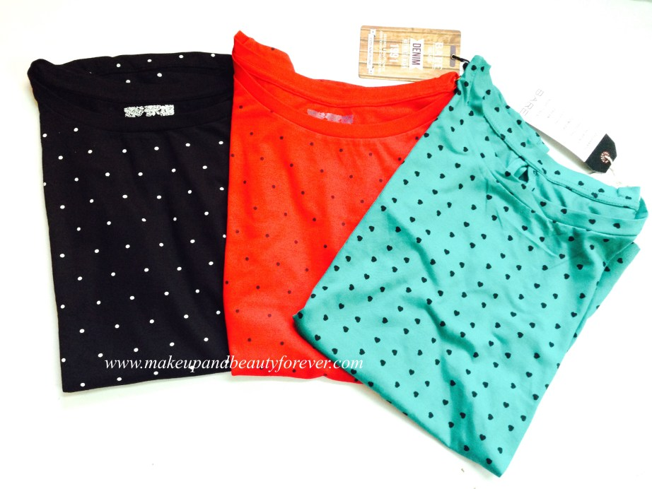 Polka Dots Tops India Heart Printed top
