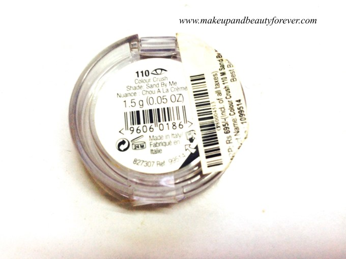 The Body Shop Eye Shadow Sand By Me 110