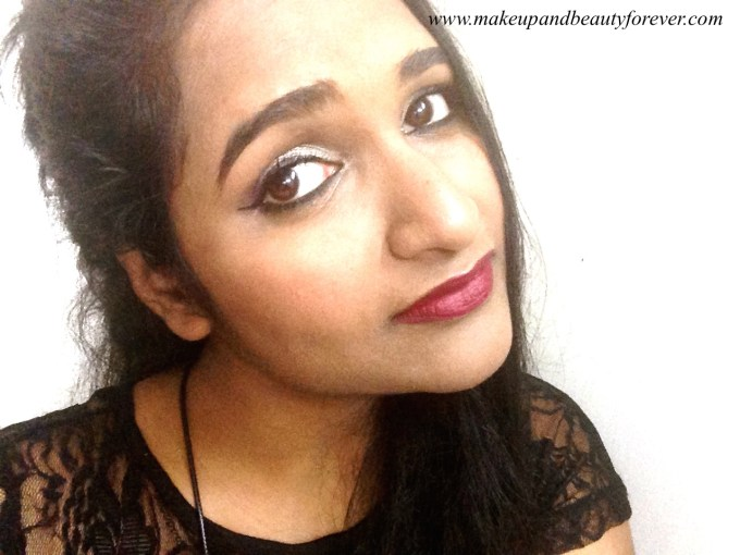 L'Oreal Color Riche Pure Reds Star Collection Pure Garnet Lipstick Review Swatch FOTD Astha Goel Sonam Kapoor