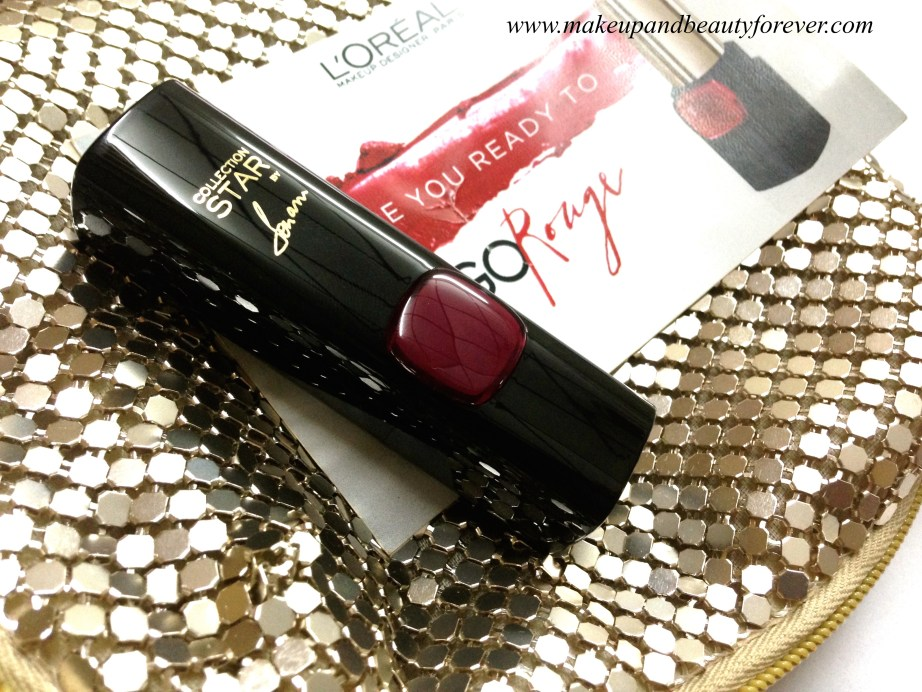 L'Oreal Color Riche Pure Reds Star Collection Pure Garnet Lipstick Review Swatch LOTD FOTD 4