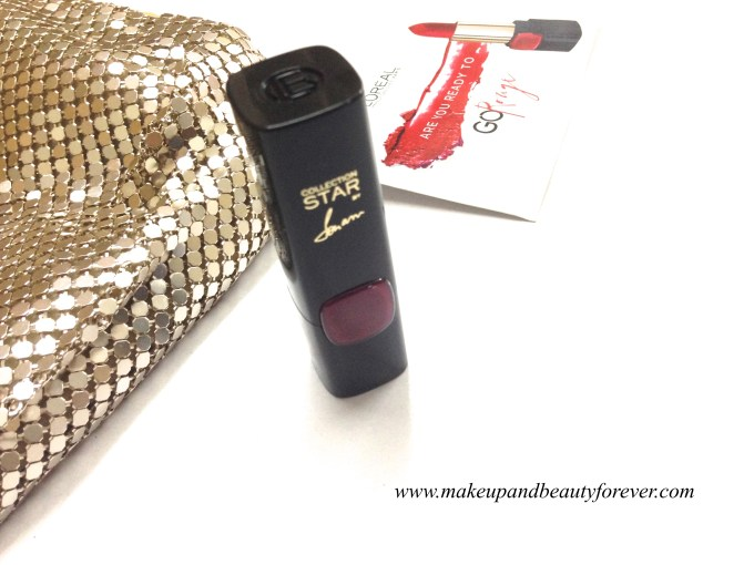 L'Oreal Color Riche Pure Reds Star Collection Pure Garnet Lipstick Review Swatch LOTD FOTD 5