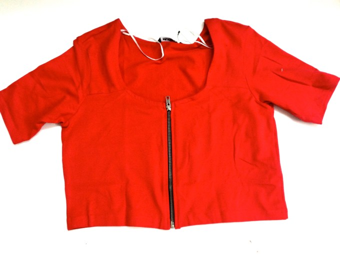 red blouse top