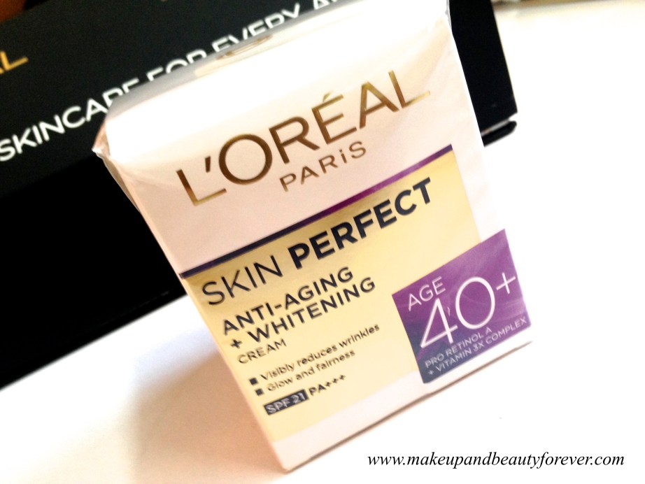 L'Oreal Paris India Skin Perfect Range - Skin Care for every Age 40+ Skin Perfect cream