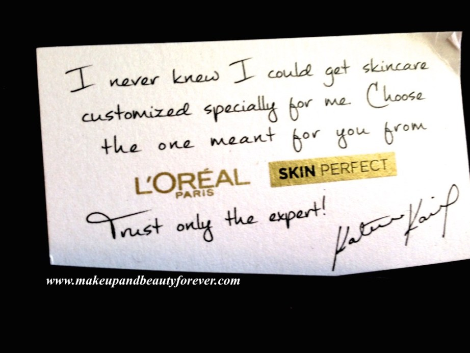 L'Oreal Paris India Skin Perfect Range - Skin Care for every Age Katrina Kaif