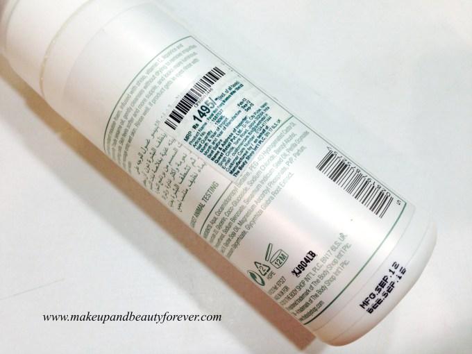 The Body Shop Moisture White Foaming Facial Wash Review 2