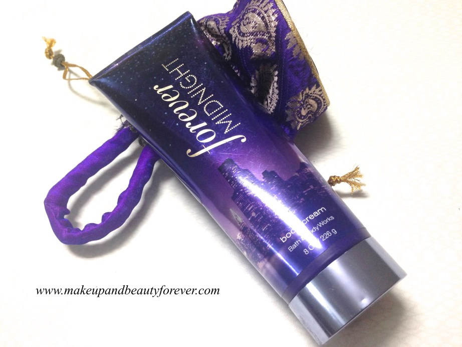 Bath & Body Works Forever Midnight Body Cream Review MBF India