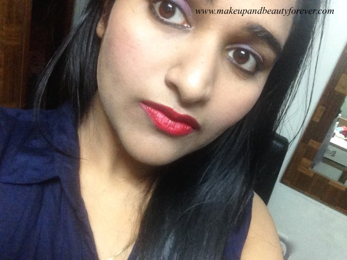 Colorbar Velvet Matte Lipstick 83 V All Fired Up 1 Review Astha MBF
