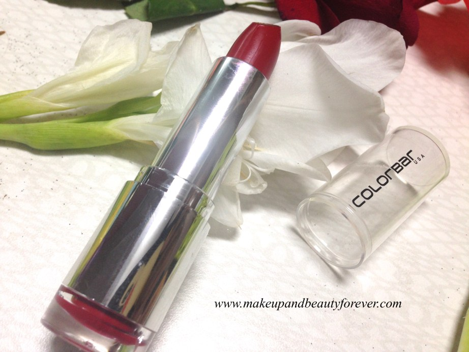 Colorbar Velvet Matte Lipstick 83 V All Fired Up 1 Review India