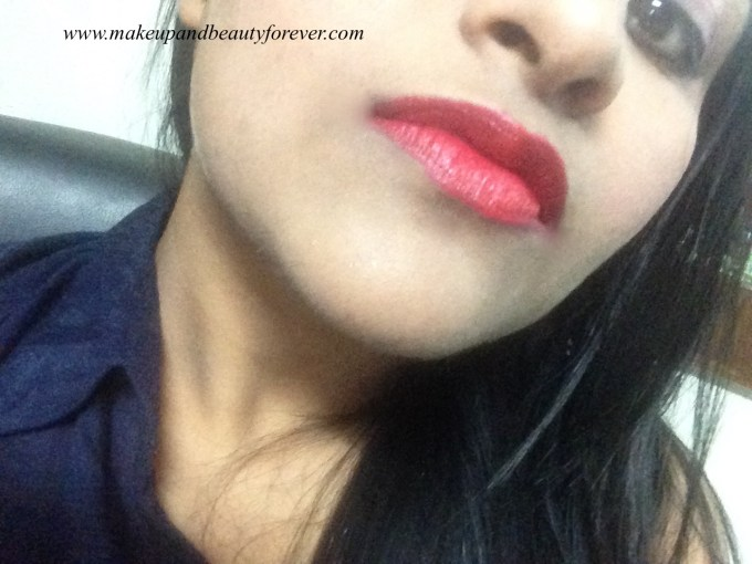 Colorbar Velvet Matte Lipstick 83 V All Fired Up 1 Review MBF