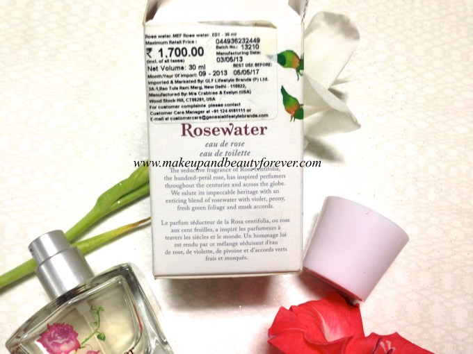 Crabtree & Evelyn Rosewater Eau de Toilette Perfume Review 7