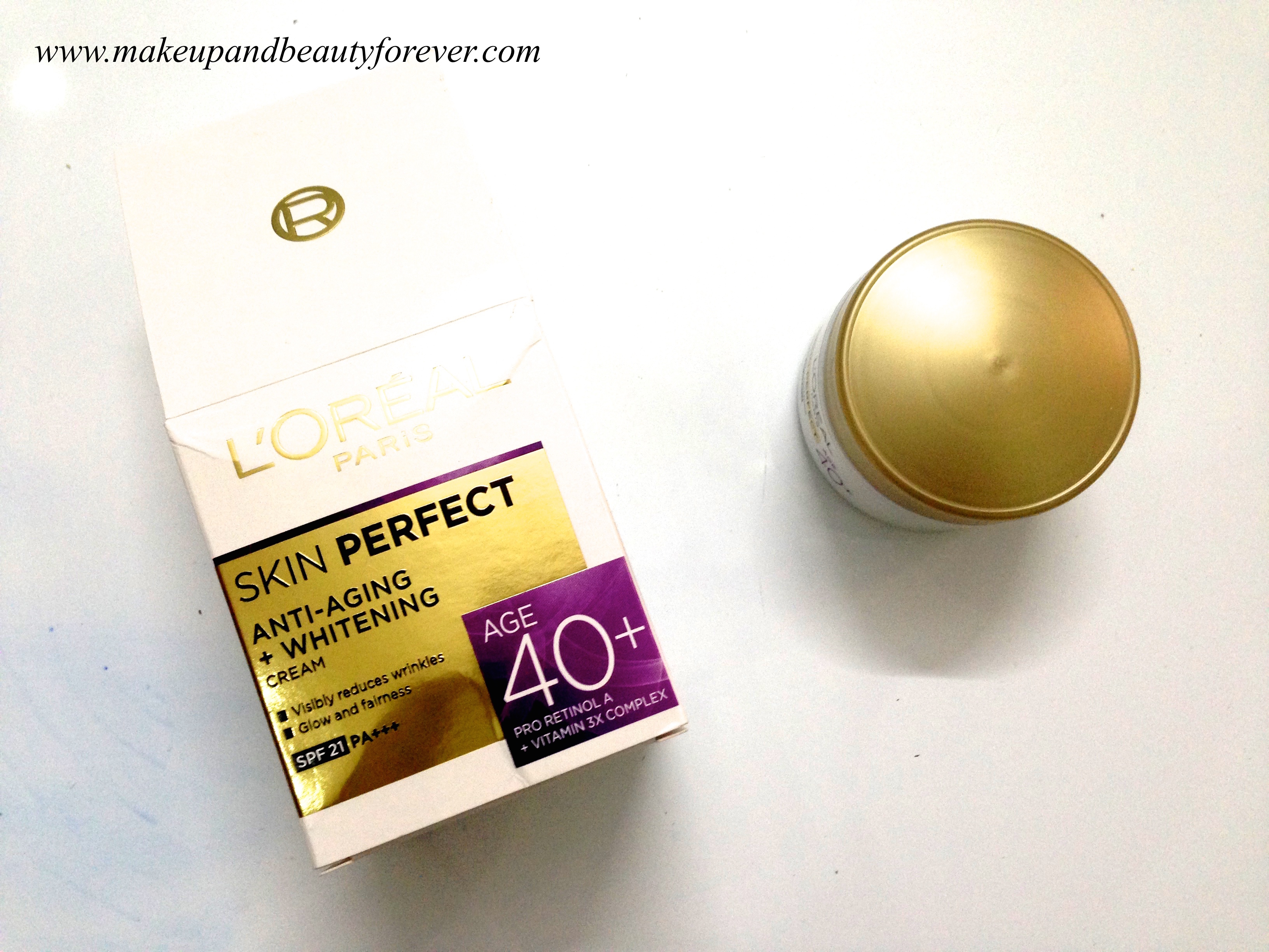 Loreal Paris Skin Perfect Anti Aging Whitening Cream For Age 40 White Day Spf 17 Pa Even Tone Review