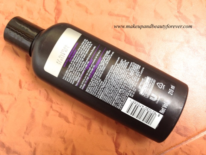 Tresemme Hair Fall Defence Control Shampoo Review India