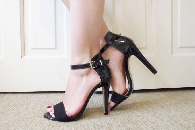 ankle strap black heels India