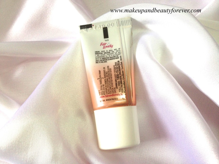 Fair and Lovely BB Cream Review MBF India
