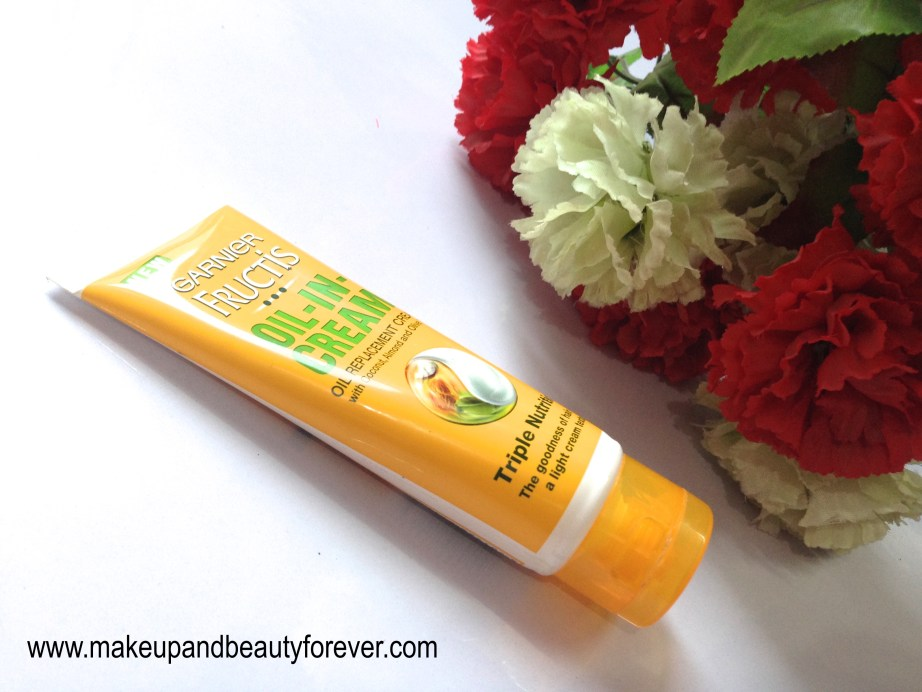 Garnier Fructis Triple Nutrition Oil-In-Cream Review beauty blog