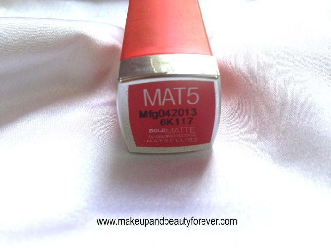 Maybelline Bold Matte Colorsensational Lipstick MAT 5 Bold Red 692