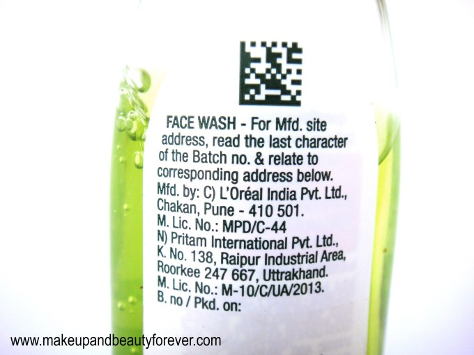 Garnier Pure Active Neem and Tulsi High Foaming Face Wash Review Indian Makeup and Beauty Blog