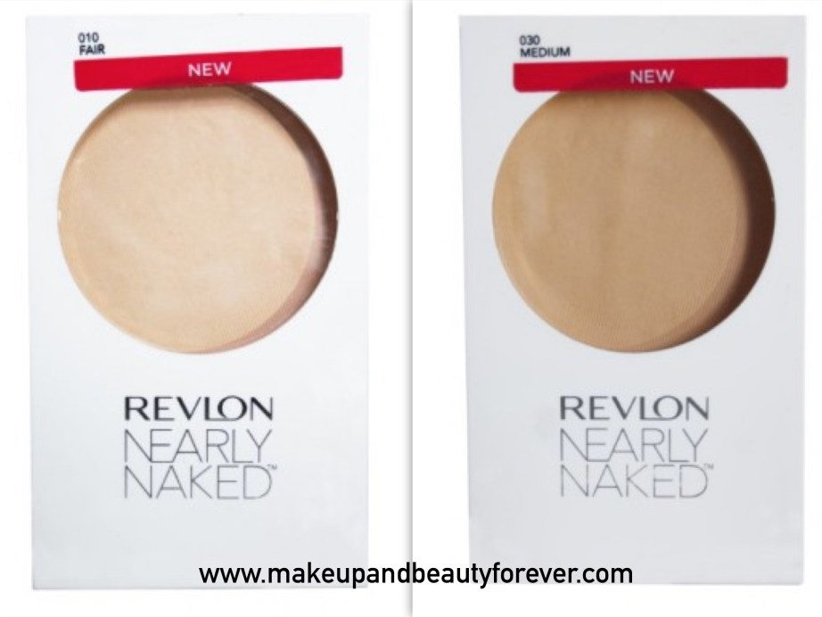 All Revlon Nearly Naked Pressed Powder Review Shades Swatches Price Details Fair Medium
