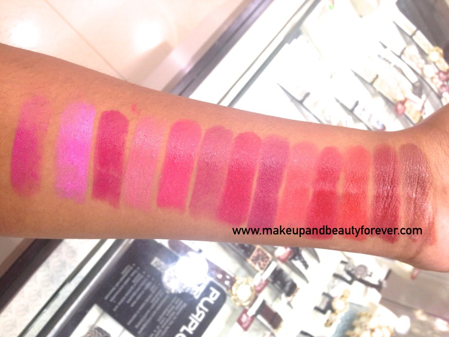 All Revlon Ultra HD Lipstick Review Shades Swatches 835 HD Primrose 840 HD Poinsettia 850 HD Iris Geranium