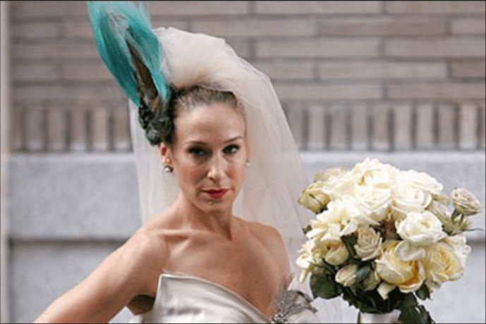 Carrie Bradshaw's Wedding Dress Vogue