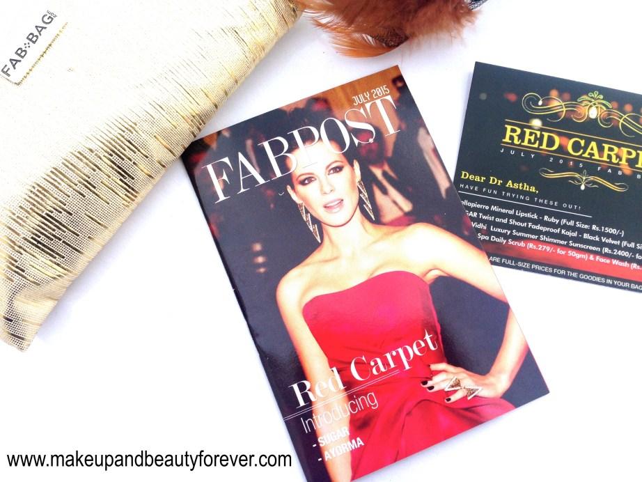 Fab Bag July 2015 Red Carpet Edition fabpost magazine