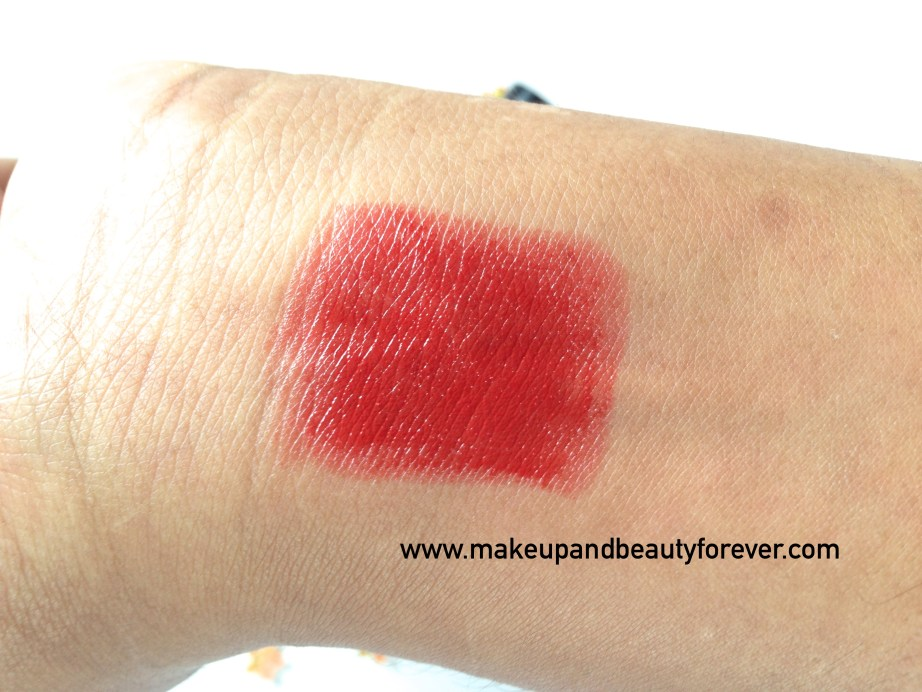 Faces Canada Go Chic Lipstick Poppy Red 411 Review Swatches Price MBF