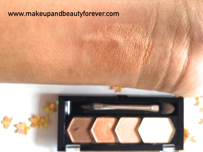 Maybelline Eyestudio Diamond Glow Shadow Quad 01 Copper Brown Review Swatches Price Details
