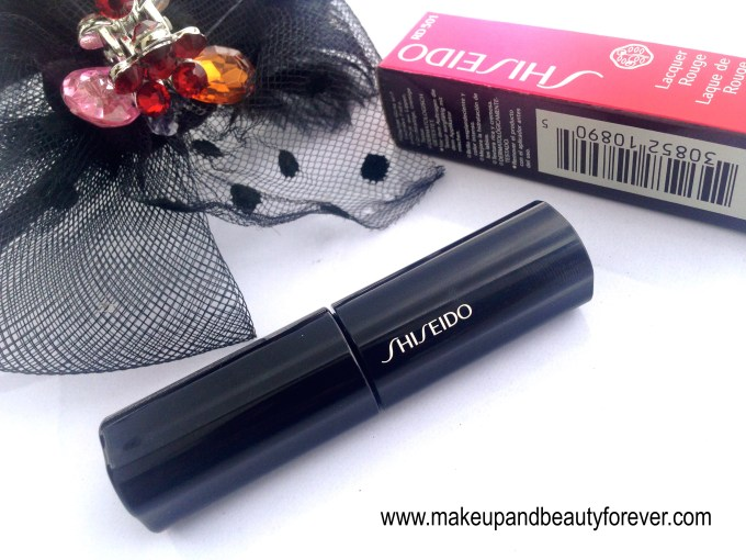 Shiseido Lacquer Rouge Liquid Lipstick Drama RD 501 Review Swatches