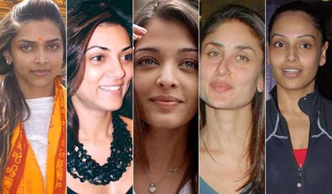 Top Ten Bollywood stars actresses without makeup