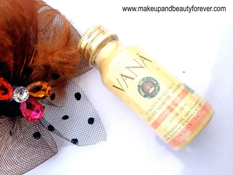 Vana Vidhi Luxury Summer Shimmer Sunscreen