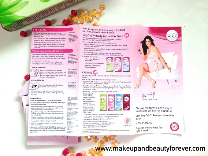 veet gel wax kit instructions