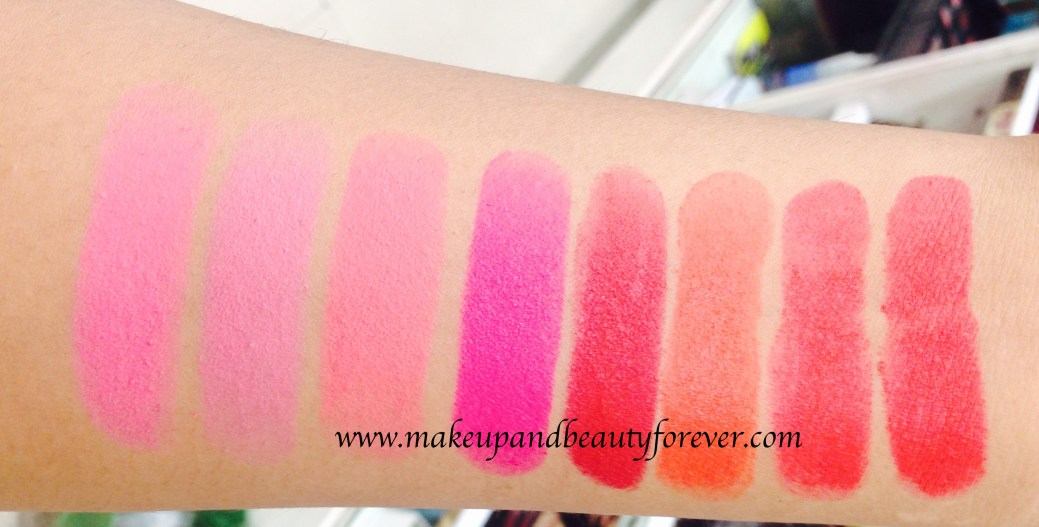 0cd1e6628f3 All Maybelline Color Show Matte Lipstick Review Shades Swatches M101 Pink  Power Pop of Pink Rock