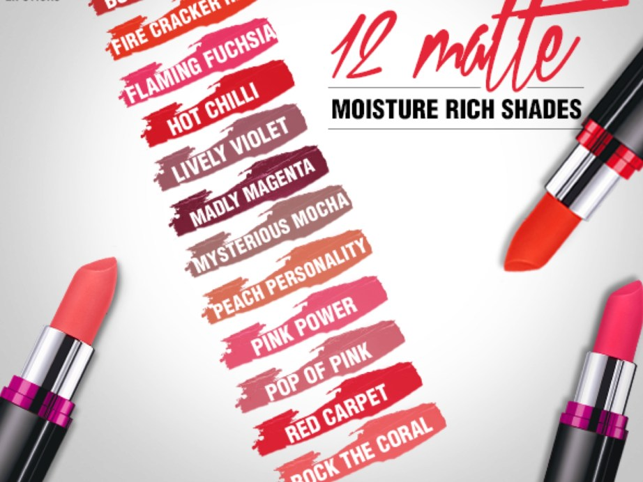 All Maybelline Color Show Matte Lipstick Review Shades Swatches Price and Details