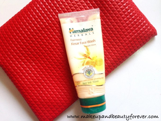 Himalaya Herbals Fairness Kesar Face Wash Review Indian Makeup and Beauty Blog MBF