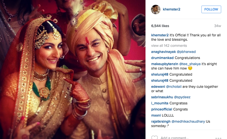 Just Married Kunal Kemmu and Soha Ali Khan