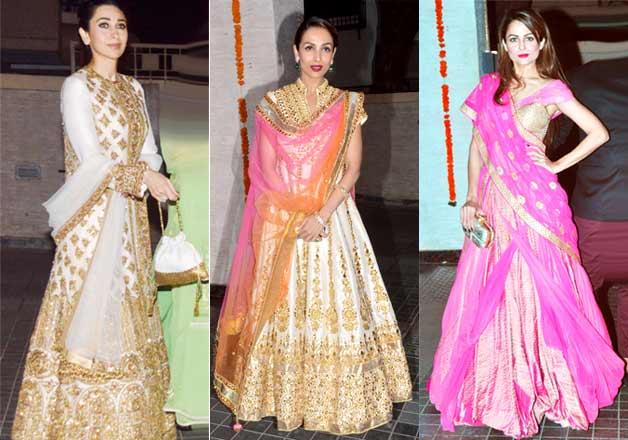 Karishma Kapoor Malika Arora Khan Amrita Arora at Soha Kunal wedding reception