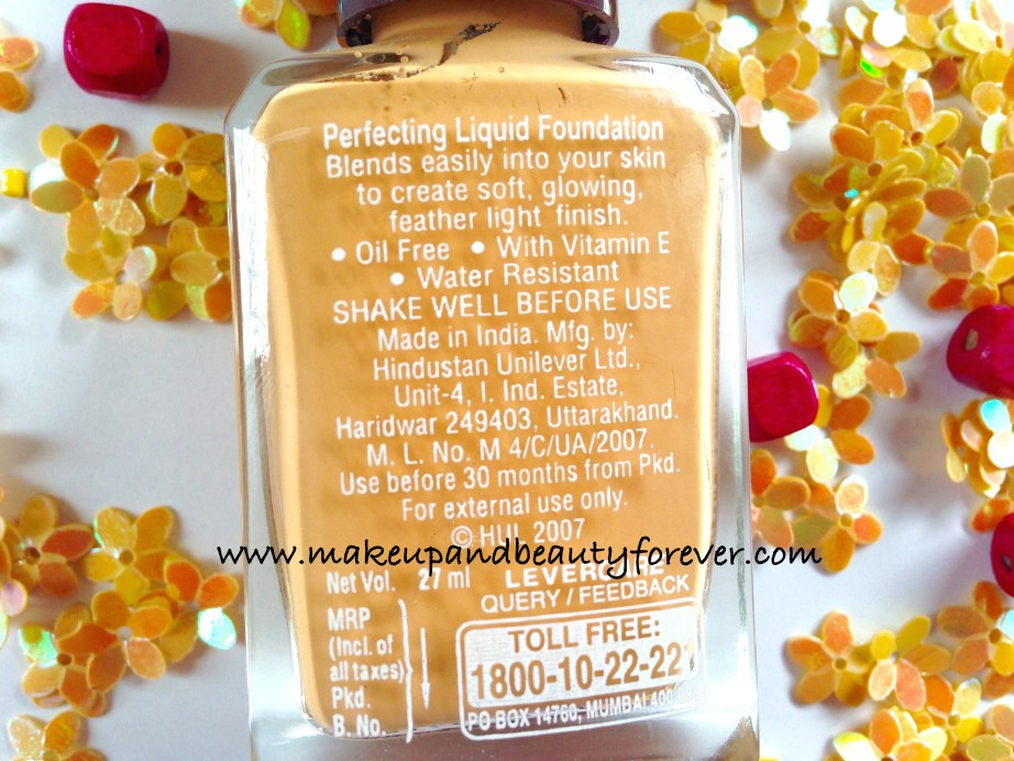 Lakme Perfecting Liquid Foundation Review Swatches Ingredients Price Shades Shell India