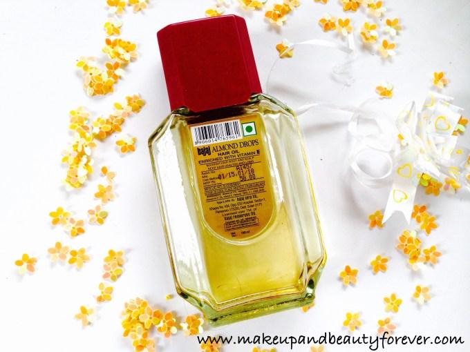 Bajaj Almond Drops Non Sticky Hair Oil with Vitamin E Review 2