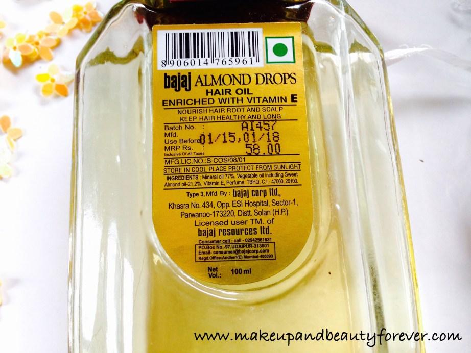 Bajaj Almond Drops Non Sticky Hair Oil with Vitamin E Review 4
